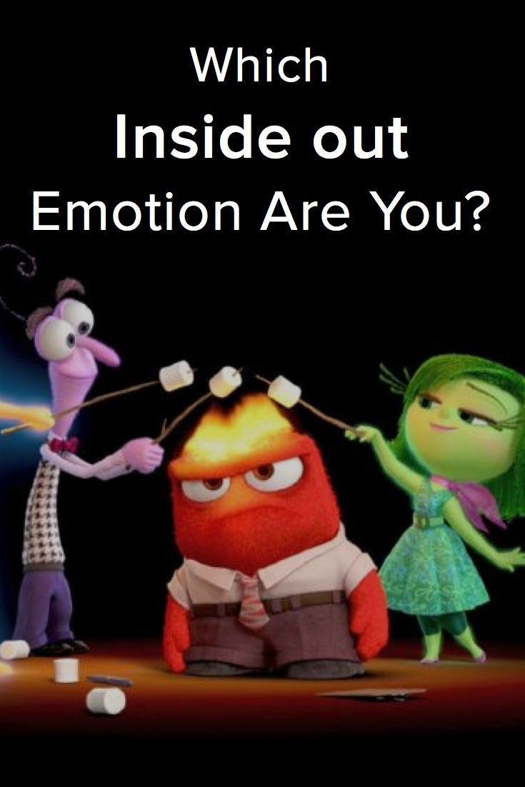 Which Inside Out Emotion Are You? Take this quiz to find out! I got joy!!