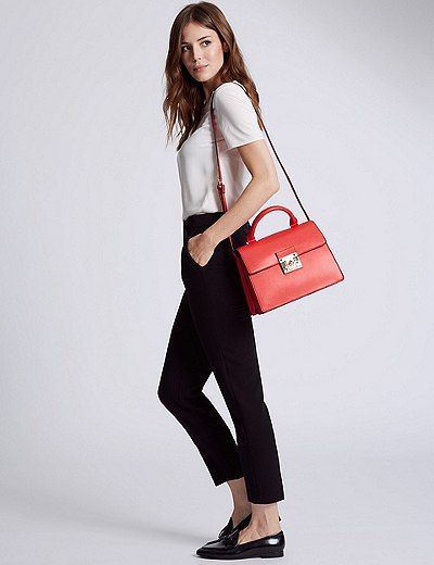 Faux Leather Top Handle Tote Bag | Marks & Spencer London