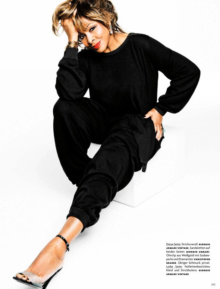 Tina Turner, at age 73 photographed for Vogue Germany, April 2013. --- When you are a winner, nothing can stop you!!!