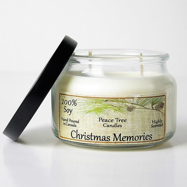 Christmas Memories Peace Tree Soy Candle