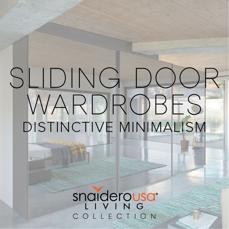 wardrobes with sliding doors and modular elements that give you