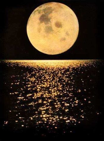 I was driving on the highway one night when all of a sudden there was a flash of light beside me. I looked over and the moon was reflecting off a large pond of water in a farmer's field. Absolutely breathtaking.