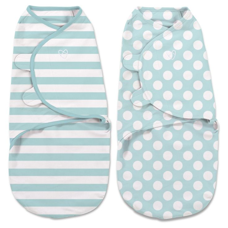 SwaddleMe Original Swaddle 2-pack Mint (Green) Stripes/Dots (Large 4-6 months)