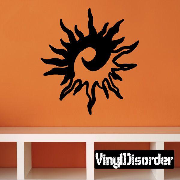 Ying Yang Sun Southwestern Wall Decal - Vinyl Decal - Car Decal - 048