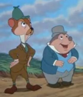 The Wind In The Willows Disney Moley and Ratty...
