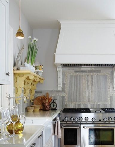 Statement brackets and lovely cooker hood