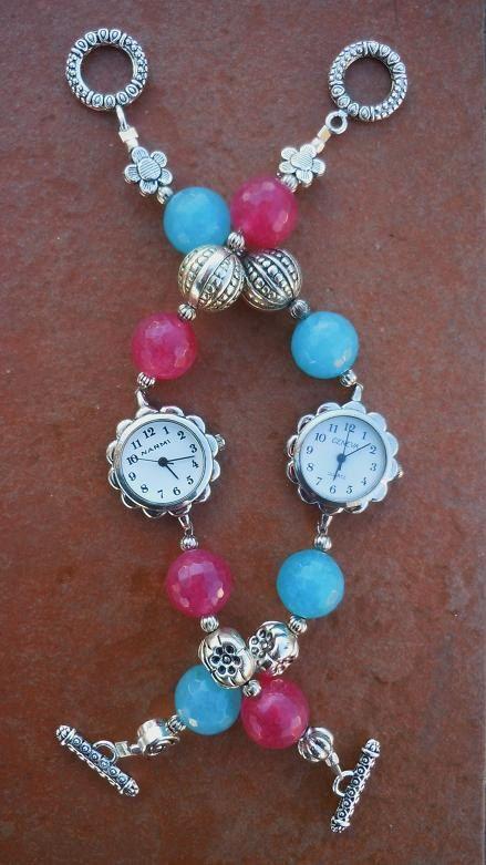 Orologio con radice di rubino e orologio con angelite e metallo di ilfiorecreativo su Etsy