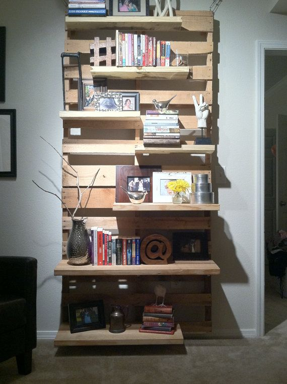 Pallet shelving #DIY
