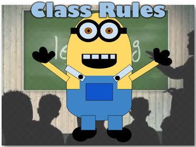Classroom Rules Minions Video     This Minions Class Rules video currently has 627984 views on YouTube Use this video to introduce discuss and develop a set of class rules with your students  Class Rules  1. No gum 2. Be a good friend 3. Control bodily functions 4. Always follow directions and listen to the teacher 5. No teasing or bullying others 6. Dont waste time when you leave the room 7. Keep your hands to yourself 8. Respect other learners by not disrupting 9. Supportive when working…