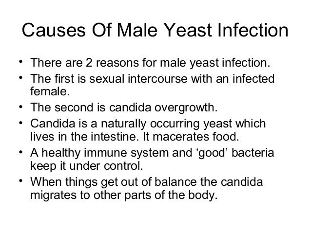 Male Yeast Infection Symptoms and Causes