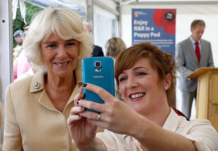 Meanwhile, in Brockenhurst, the Duchess of Cornwall was also more than happy to pose for a selfie with a fan. Prince Charles' wife was meeting family members of service personnel during a visit to the Poppy Pod village, which provides service personnel and their families with holiday accommodation and facilities at the Tile Barn Outdoor Centre.