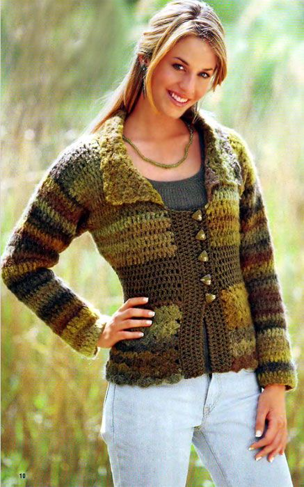 Irish crochet &: CROCHET JACKET
