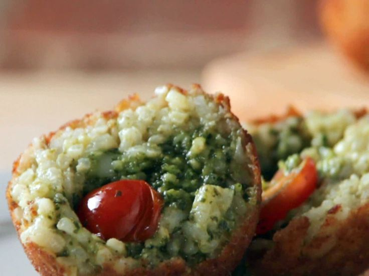 Bianco Rosso Verde Arancini recipe from Home Made in America with Sunny Anderson via Food Network