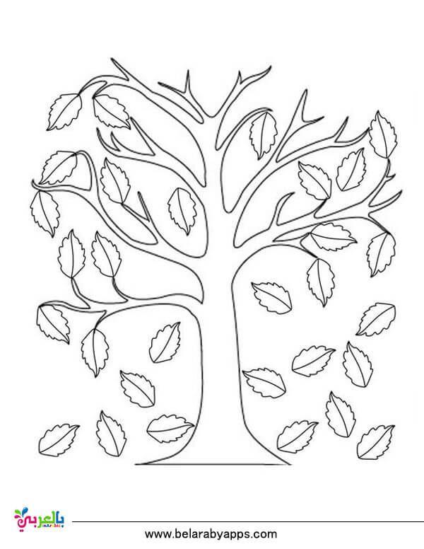 رسومات للتلوين عن فصل الخريف جاهزة للطباعة 2020 بالعربي نتعلم
