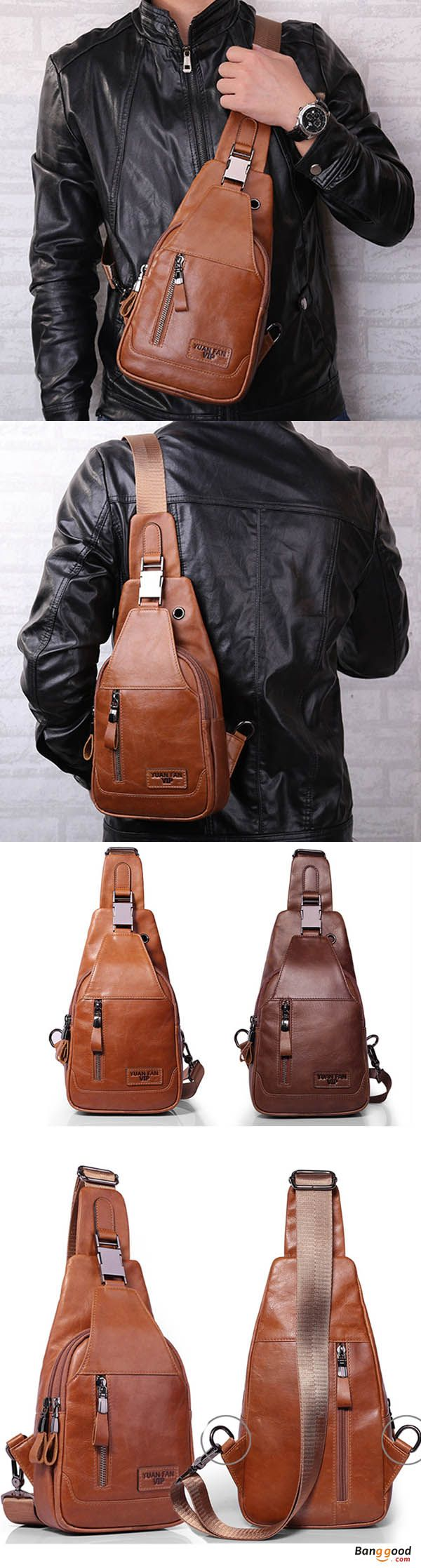 US$39.99 + Free shipping. Ekphero® Men Casual Genuine Leather Oil Wax Chest Bag Crossbody Bag. Khaki & Coffee >>> To view further, visit now.