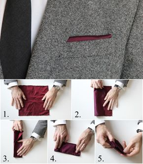 How To Fold a Pocket Square: The Pesko Fold