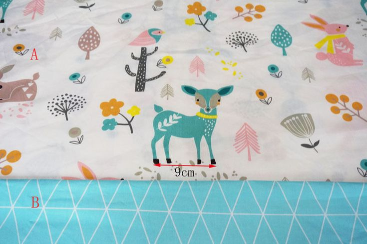 One PCS Cotton Fabric Pre-Cut Cotton cloth Fabric for Sewing Little Deer G2 | eBay