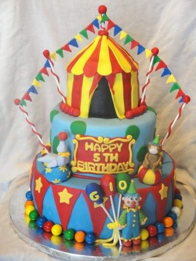 Circus or Carnival Birthday Cake