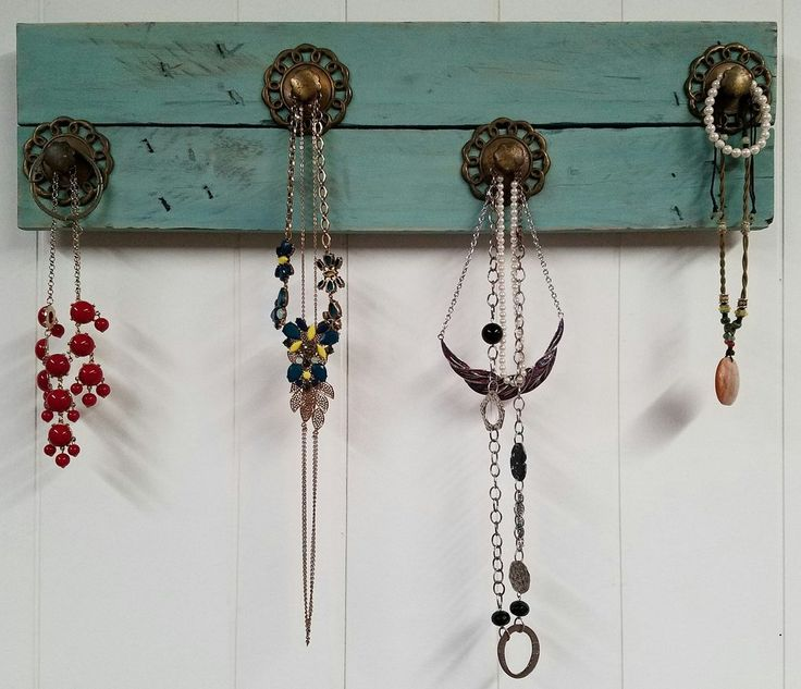 Handmade Teal Jewelry/Coat Rack