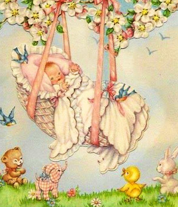 Открытки с новорожденным старинные, картинки про кровать