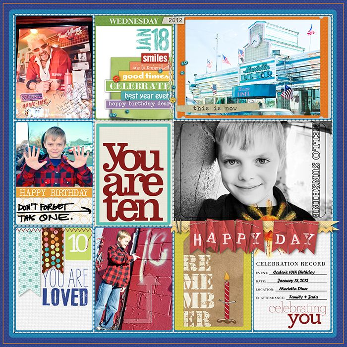 different spots - maybe scrapbook a couple?Scrapbook Ideas, Layout Ideas, Project Life, Digital Scrapbook, Birthday Scrapbook, Scrapbooking Ideas, Scrapbook Layout, Scrapbook Birthday, Projects Life