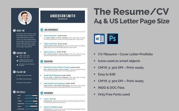 Clean Resume Cv Web Developer Resume Cv Resume Template Resume Cv