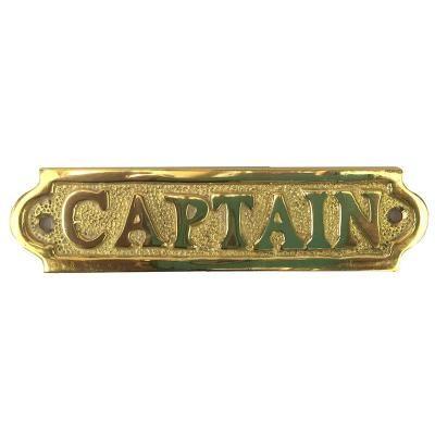 Captain Sign - Brass 13cm