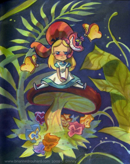 Alice in Wonderland with Cheshire Cat