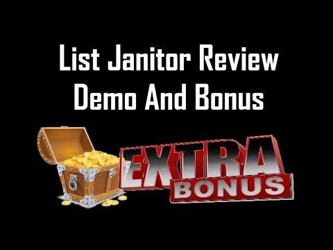 List Janitor Review | List Janitor Bonus And Demo - YouTube