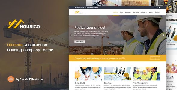 Housico Ultimate Construction Building Company Theme Download