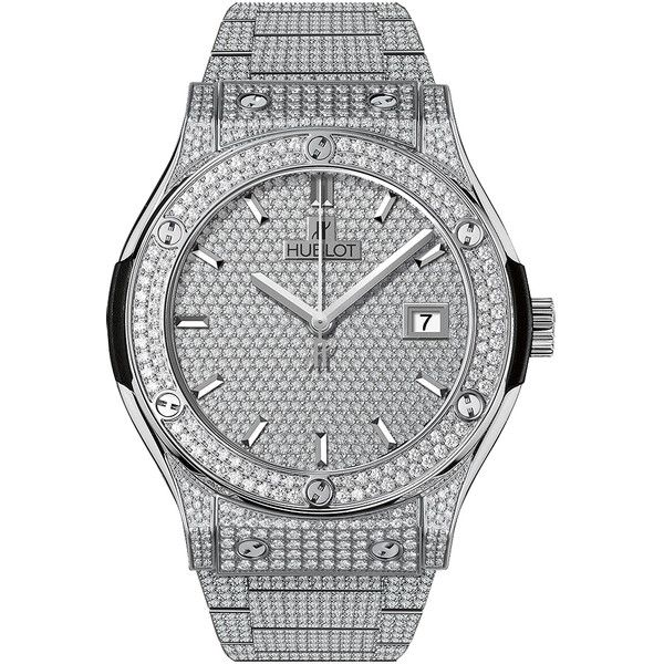Hublot Classic Fusion Automatic 42mm 542.nx.9010.nx.3704 Watch (73,190 CAD) ❤ liked on Polyvore featuring men's fashion, men's jewelry, men's watches, titanium and hublot mens watches