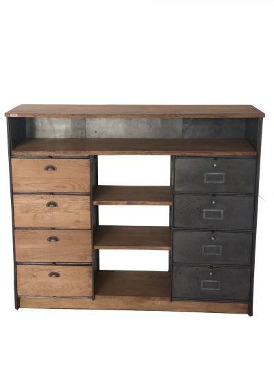 meuble ron o tiroirs mobilier industriel mobilier industriel pinterest. Black Bedroom Furniture Sets. Home Design Ideas