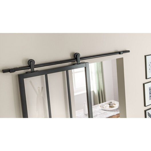 25 beste idee n over rail pour porte coulissante op for Rail porte coulissante ikea