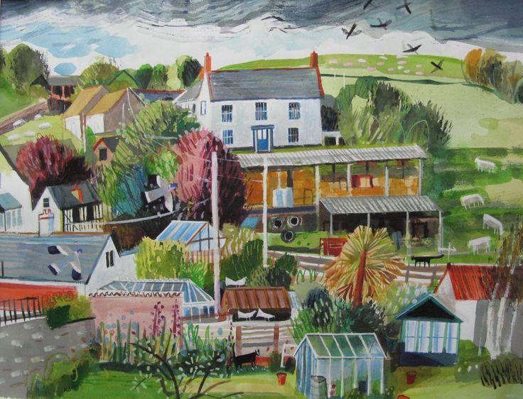 -Higher Town Farmhouse- acrylic 48x37cms - Mary Sumner