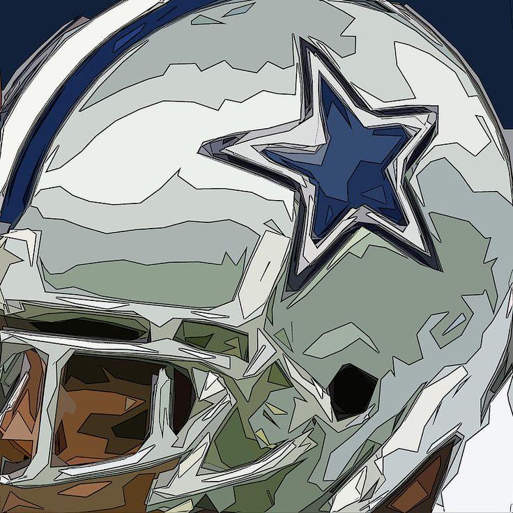 Dallas Cowboys art gallery | Dallas Cowboys Comic Style Helmet Abstract 2