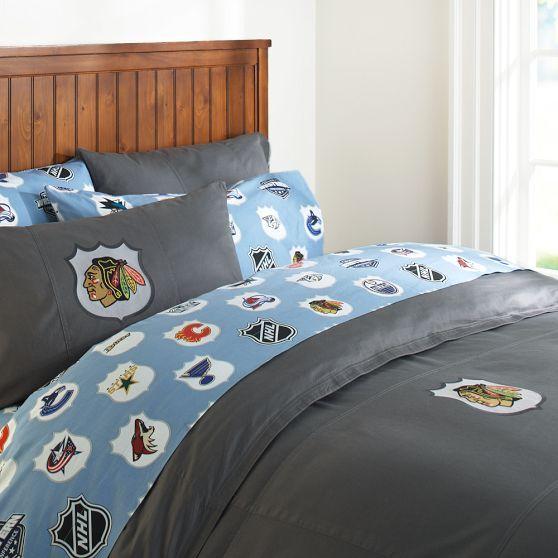 Chicago Blackhawks Duvet Cover U0026 Pillowcase | PBteen