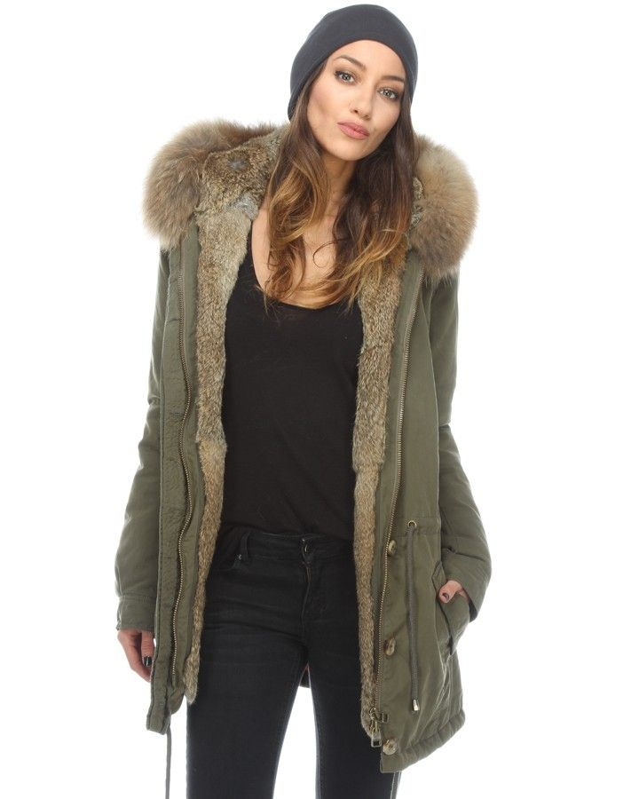 iq berlin 2650 4618 parka mit fellfutter gr n biniparka pinterest shops parkas and fur