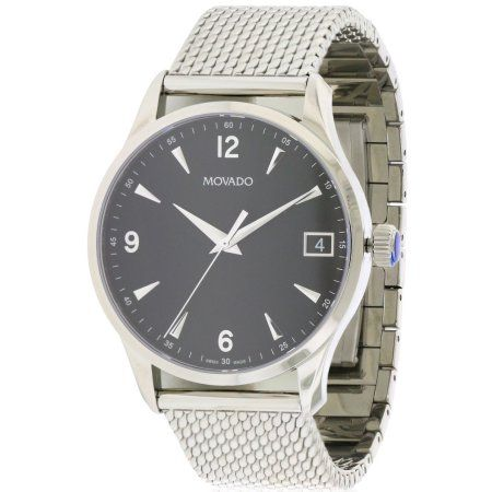 Movado Circa Stainless Steel Mesh Men's Watch, 0606802, Size: 42 mm, Silver