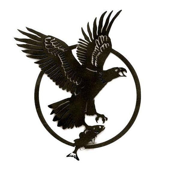 soaring eagle with fish custom