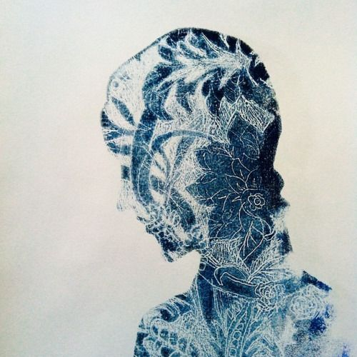 Herald Black #monoprinting #printmaking #silhouette
