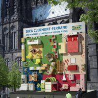 Un mur d'escalade meublé pour annoncer l'ouverture d'un nouveau magasin IKEA - Marie Claire Maison