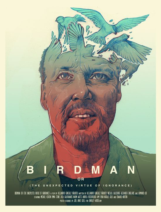 "Birdman, or, (The unexpected virtue of ignorance) - Alejandro G. Iñárritu 2014 -- ""A black comedy story of an actor famous for portraying an iconic superhero as he struggles to mount a Broadway play. In the days leading up to opening night, he battles his ego & attempts to recover his family, his career, & himself."""