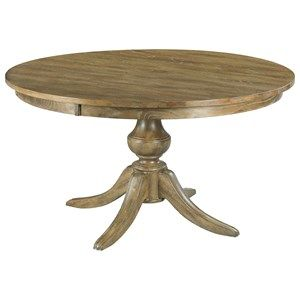 "Kincaid Furniture The Nook 44"" Round Dining Table w/ Wood Base"