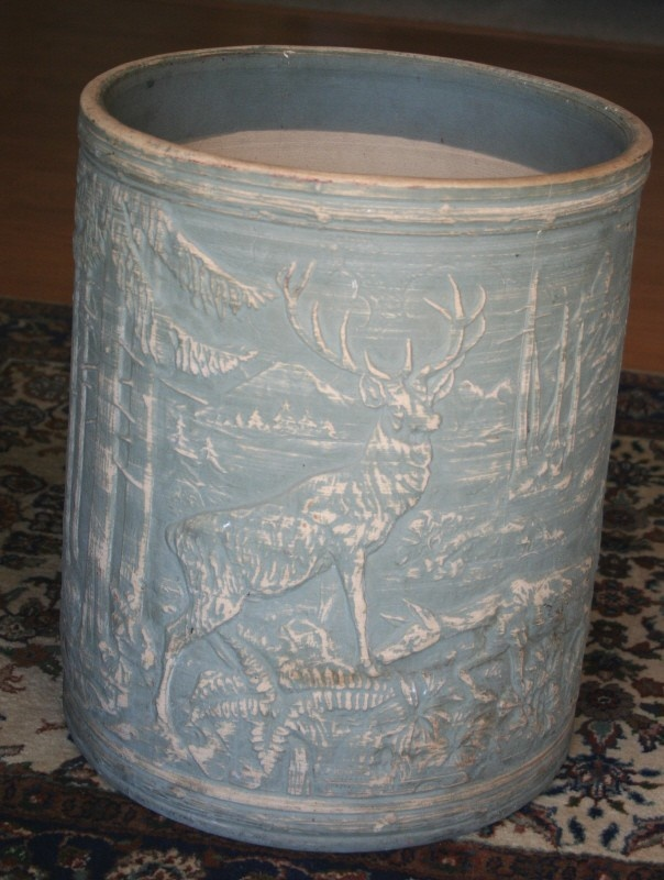 Vintage Deer In Forest Robinson Ransbottom Pottery