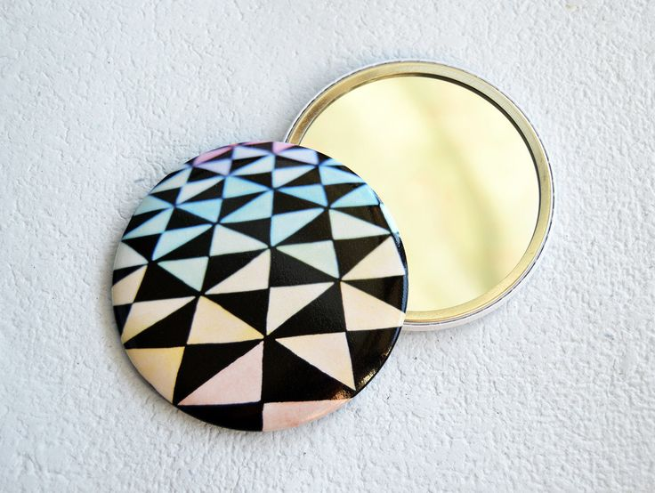 #optical #pocketmirror with #triangles #verapaperlab - pinned by pin4etsy.com