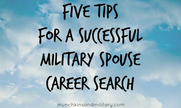 Five Tips for a Successful Military Spouse Career Search