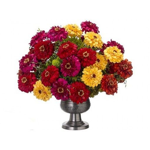 Forget the lamps or the rugs or the paint or other accents. Beautiful home décor is all about our colorful #flowers. #Zinnia #Sedum #Hydrangea