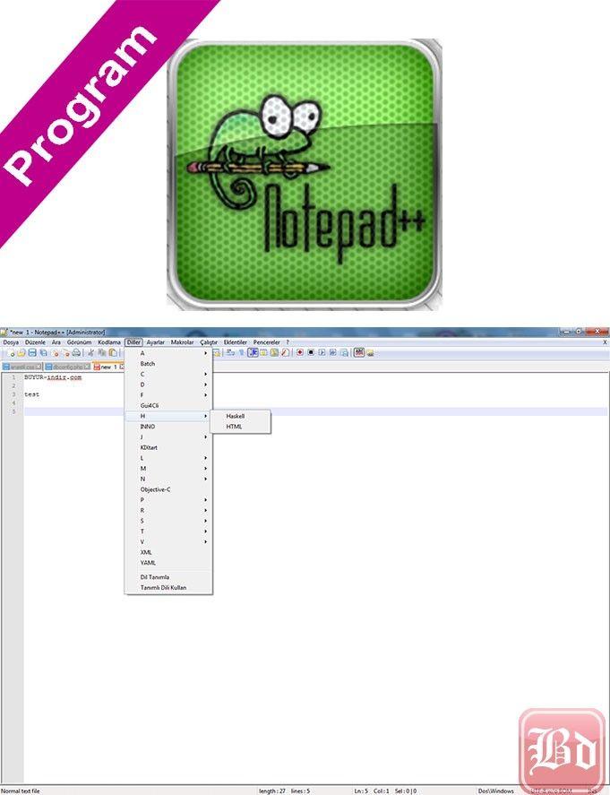 Notepad++ v6.7.9.2 Türkçe Katılımsız
