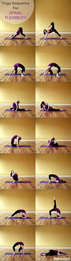 Suffering from back pain all too often? Try this yoga sequence when improving spinal flexibility, it will help stretch you out and ease your pain.