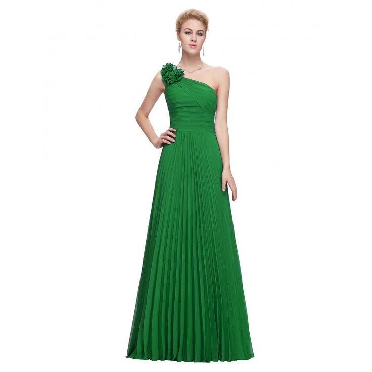 Zelené spoločenské šaty CL3467
